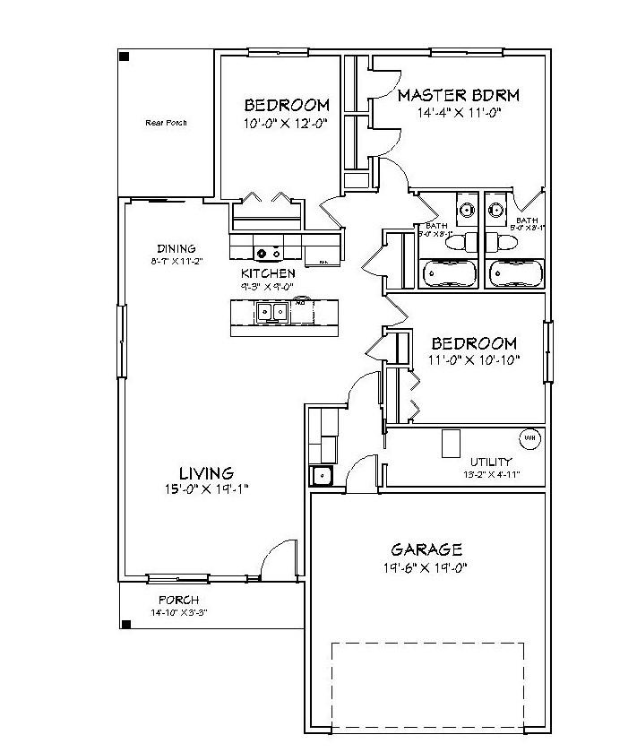 Mulberry Floor Plan Rendering