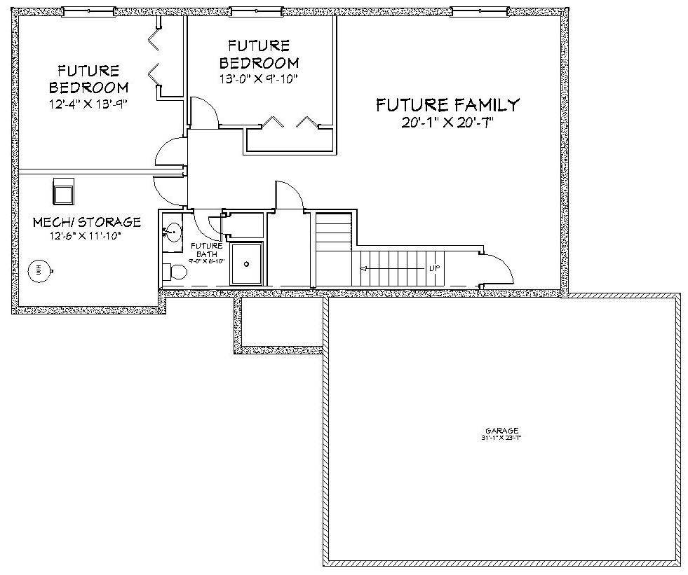Rosewood Lower Level Floor Plan